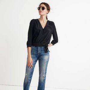 BNWT silk cropped blouse